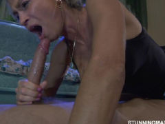 Sexy milf catch young boy fucking his two friends